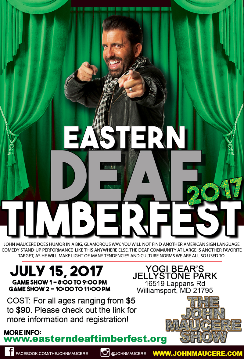 John Maucer Show at Eastern Deaf Timberfest